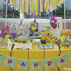 Happy Magic's Birthday / Despicable Me / Minions - Photo Gallery at Catch My Party Kylie Birthday, Magic Birthday, Minion Birthday, 3rd Birthday Parties, Mustache Birthday, 2nd Birthday, Despicable Me Party, Minion Party, Minion Theme