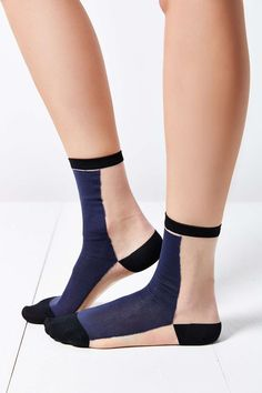 Colorblock Sheer Sock
