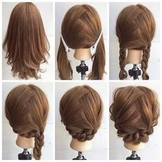 Fashionable Braid Hairstyle for Shoulder Length Hair ❤ liked on Polyvore featuring accessories, hair accessories, braid, hairstyle, short hair accessories and long hair accessories