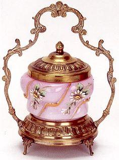 ... AN ENGLISH ART GLASS PICKLE CASTOR, circa 1880