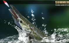 Fishing Rod, Fishing Games, Lake Games, Whale, Summer, Animals, Summer Time, Animales, Animaux