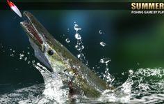 Fishing Rod, Fishing Games, Lake Games, Whale, Platform, Summer, Animals, Whales, Wedge