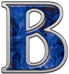 Reflective Letter B with Inferno Blue Flames :: Inferno Blue Reflective Vinyl Lettering and Numbering :: Letters and Numbers :: Weston Signs Inc. Love Blue, Blue And White, Rhapsody In Blue, Alphabet And Numbers, Alphabet Letters, Calming Colors, Blue Flames, Color Azul, Vinyl Lettering