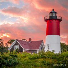 Lighthouse Ablaze by Piyush Jain, 500px. Sunset over the Nauset Lighthouse, Cape Cod.