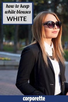Keeping white blouses white can be a challenge -- so we have some awesome laundry tips for you to help keep your whites white.
