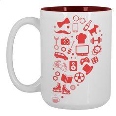 Mine=yours Large Mug 450ml Design by Ej madziu   Teequilla   Teequilla