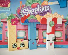 Shopkins Party Decor / Paper Mache Letters / Pineapple Crush / Fifi Fruit Tart / Poppy Corn
