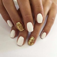 50 Ideas Holiday Nails Acrylic Squoval 50 Ideas Holiday Nails Acrylic Squoval Related posts:Love the accent nails! - Beautiful Short Square Nails for Your Fingers - Lily Fashion Schöne. Cute Acrylic Nails, Cute Nails, My Nails, Squoval Acrylic Nails, Nails Inc, White Nails With Gold, Glitter Accent Nails, Gold Glitter, White Shellac Nails