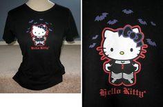 Gothic Batty Hello Kitty t-shirt! Velvet Garden - Gothic Clothing Marketplace