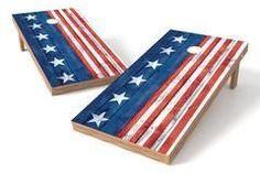 USA Flag Single Cornhole Board-Vertical