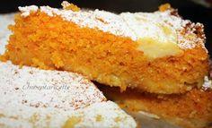 Torta di carote e mandorle con crema all'arancia Carrot and almond cake with orange cream
