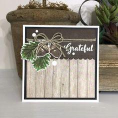 ThePaperyMakery: Grateful Wood Planks, Grateful, Christmas Cards, September, Floral, Black, Christmas E Cards, Black People, Wooden Boards