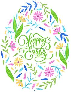 'Happy easter floral egg- typography' Sticker by CacaoDesigns Easter Fonts, Easter Printables, Happy Easter Sunday, Happy Easter Cards, Happy Easter Quotes, Happy Easter Wishes, Easter Greeting, Easter Dinner, Easter Brunch
