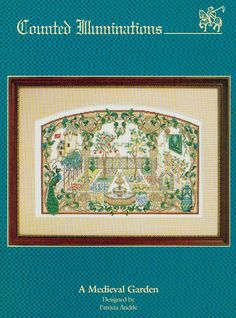 A Medieval Garden by Patricia Andrle by ElizabethsNeedlework, $8.00