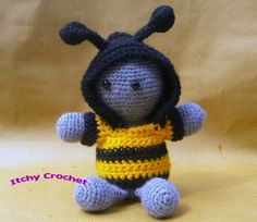 Inchoate Bumble Bee Crochet Kit by ItchyCrochetDesigns on Etsy
