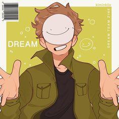 My Dream Team, Just Dream, Dream Anime, Dream Friends, Minecraft Fan Art, Dream Art, Cute Art, Art Reference, Fanart