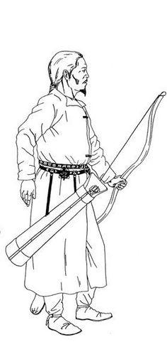 Kök Turk (Tujue) Warrior - Gökturks