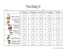 First Grade Dual: Daily 5 Freebies