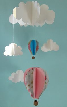 hot air balloon - fun way to decorate classroom or child's room