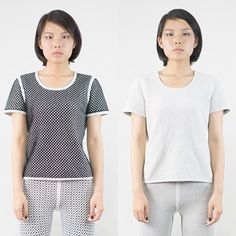 """NWT Reversible Emily Keller Cotton Top 100% Cotton reversible top. 1 side is black and light gray. Other side is light gray. Textured fabric. Chest is 35"""" around. Length is 23"""". Emily Keller Tops Tees - Short Sleeve"""
