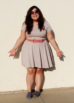 Plus Size - Dress w/ Blue Lace-up shoes. Where do I find this dress??