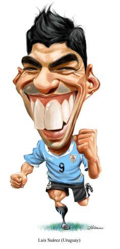 Caricatura de Luis Suarez - www.ideo-gene.net - Générateur d'Optimistes…