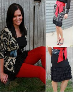 Bring on the Frill Layering Skirt-Black with Black - wear under shorter dresses to get the length you want!