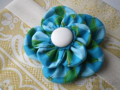 Until Wednesday Calls: How To: Scrap Fabric Flower Accessories