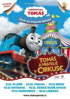 Lokomotiva Tomáš a přátelé v ciskuse / plakát