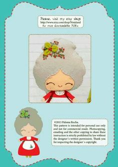DIY Felt Mrs Santa Claus - FREE Pattern / Template