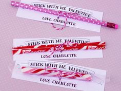 Budget Valentine: Buy candy sticks or pencils from the dollar store and tie to these cards. Download the free template >> http://www.diynetwork.com/decorating/diy-valentine-cards-gift-tags-banners-and-treat-bags-for-kids/pictures/index.html?soc=pinterest#