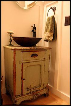 Farmhouse rustic bathroom sink