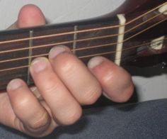 A7 minor guitar chord.