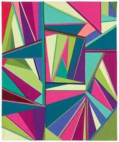 Angles #1 by Annette Guerrero.  Contemporary quilt artist.