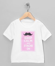 A swanky 'stache characterizes this hip tee. The playful print, durably soft cotton and easy-on fit ensure that little ones rock a design that celebrates a fabulous facial hair affair!100% cottonMachine wash; tumble dryImported   Printed in the USA