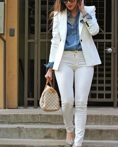 ✔ Office Look Blazer Work Outfits Summer Office Outfits, Casual Work Outfits, Business Casual Outfits, Professional Outfits, Mode Outfits, Chic Outfits, Classy Outfits, Formal Outfits, Women's Business Clothes