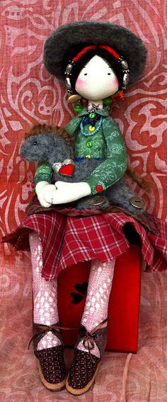 """Текстильная кукла """" Тибетская девочка"""""""