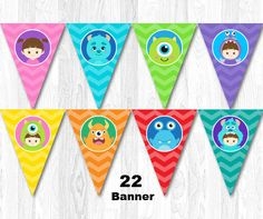Monster Banner Monster Bunting Monster Inc Banner by KidzParty