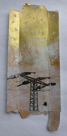 altered cardboard packaging, 12 cm x 29 cm Buchstaben und Energie (dazwischen 8) - veränderte Pappverpackung, 12 cm x 29 cm