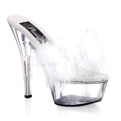 Pleaser Shoes Kiss-201F White