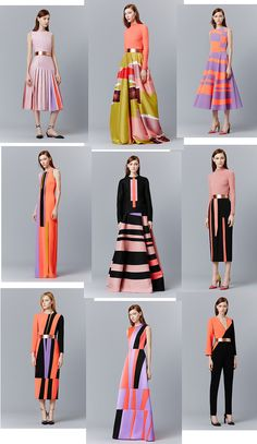 The new collection from Serbian-born designer Roksanda Ilincic All images from… Fashion 2017, Fashion Art, High Fashion, Fashion Show, Fashion Dresses, Womens Fashion, Fashion Design, Trendy Fashion, Moda Casual