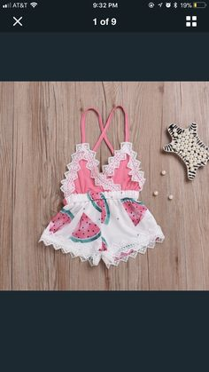 A cute little watermelon romper for the party!