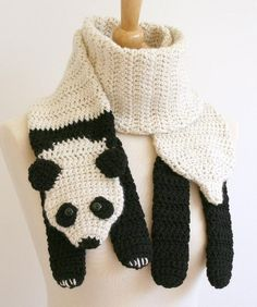 I love panda bears. Their distinctive look, pudgy tummies, and overall fluffiness is adorable. Here is a perfectly designed scarf for that panda lover that you know.  Available from ravelry: http://www.ravelry.com/patterns/library/panda-scarf-crochet-pattern
