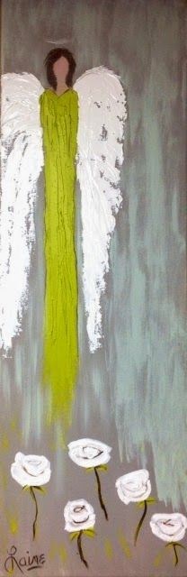 "Laine's Riverside Art: Angel 12"" x 36"" on 1 & 1/2"" gallery wrapped canvas $ 295"