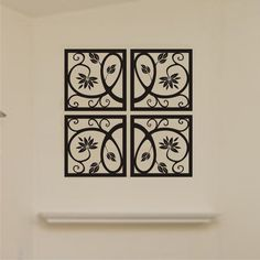 Vinyl Wall Decal Scrolled Square Motif 4 by ChuckEByrdWallDecals, $27.50