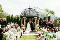Ceremony in the Courtyard at Le Jardin in Sandy, Utah  (Photo by akstudiodesign.com)