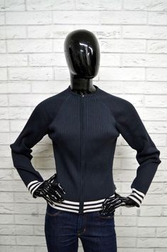 Dettagli su Felpa ADIDAS Donna Taglia 44 SweatShirt Woman Maglione Pullover  Blu Elastica Zip 524d0f7c9c3c