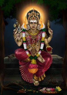 The Great Goddess Kali by Shaatish on DeviantArt Durga Ji, Saraswati Goddess, Goddess Lakshmi, Divine Goddess, Shiva Parvati Images, Durga Images, Lakshmi Images, Mahakal Shiva, Lord Shiva Family