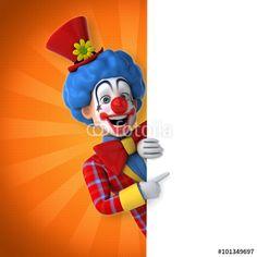"""Téléchargez la photo libre de droits """"Fun clown"""" créée par julien tromeur au meilleur prix sur Fotolia.com. Parcourez notre banque d'images en ligne et trouvez l'image parfaite pour vos projets marketing !"""