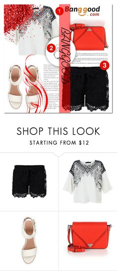 """""""BANGGOOD 5"""" by mini-kitty ❤ liked on Polyvore featuring BEA, Alexander Wang, red, shorts, for and women"""